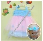 Baju Pesta Bayi - Biru