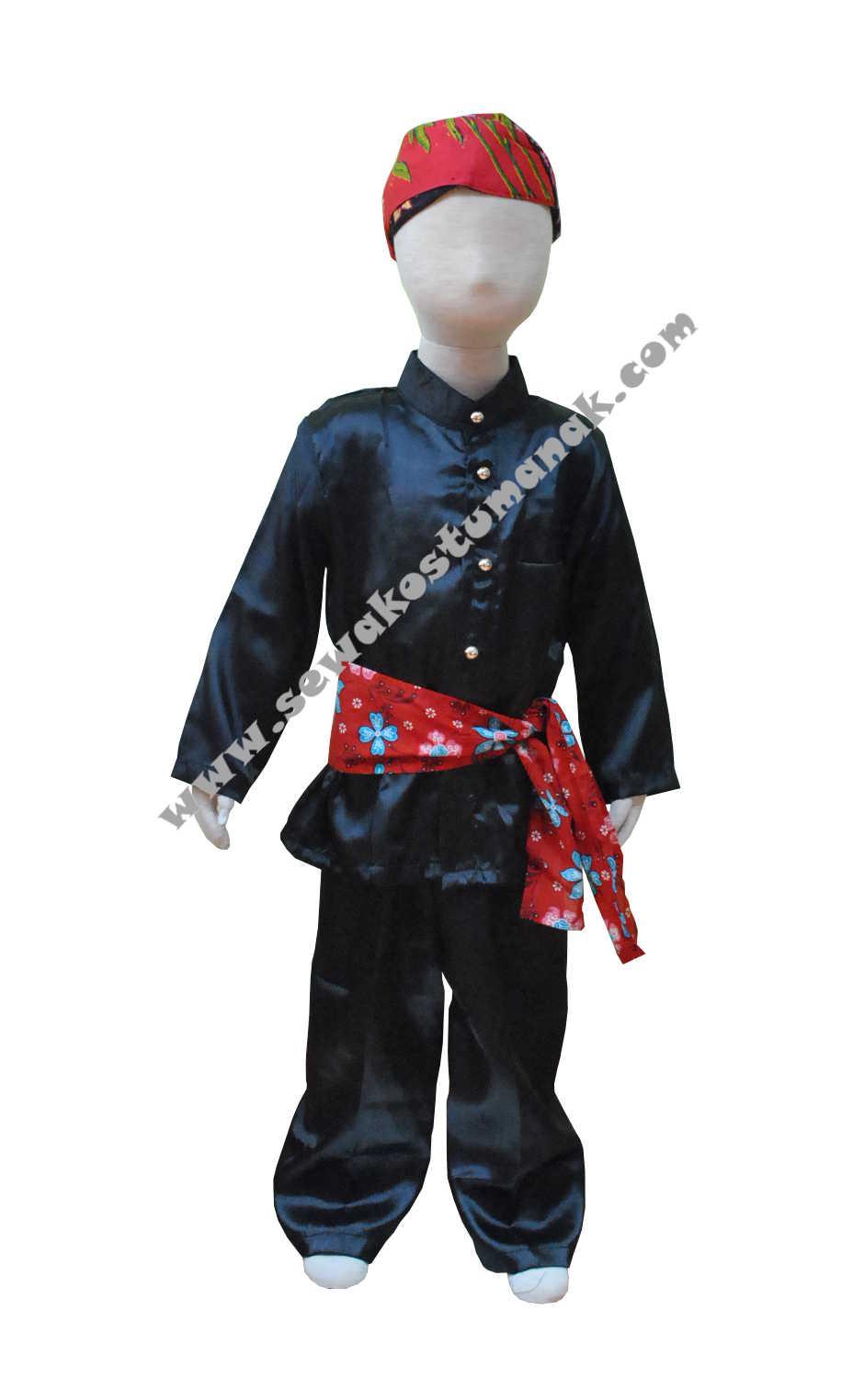 Pakaian Adat Betawi | Baju Adat Betawi | Sewa Kostum Anak