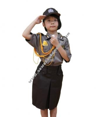 baju kostum polisi wanita 2  large