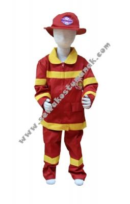 d baju kostum pemadam kebakaran  large
