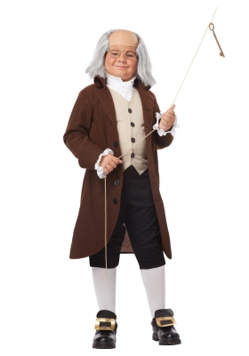 d d boys benjamin franklin costume  large