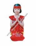 Pakaian Adat Dayak - Bludru Merah Girl