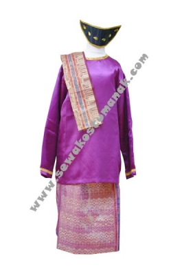 pakaian adat batak ungu  large